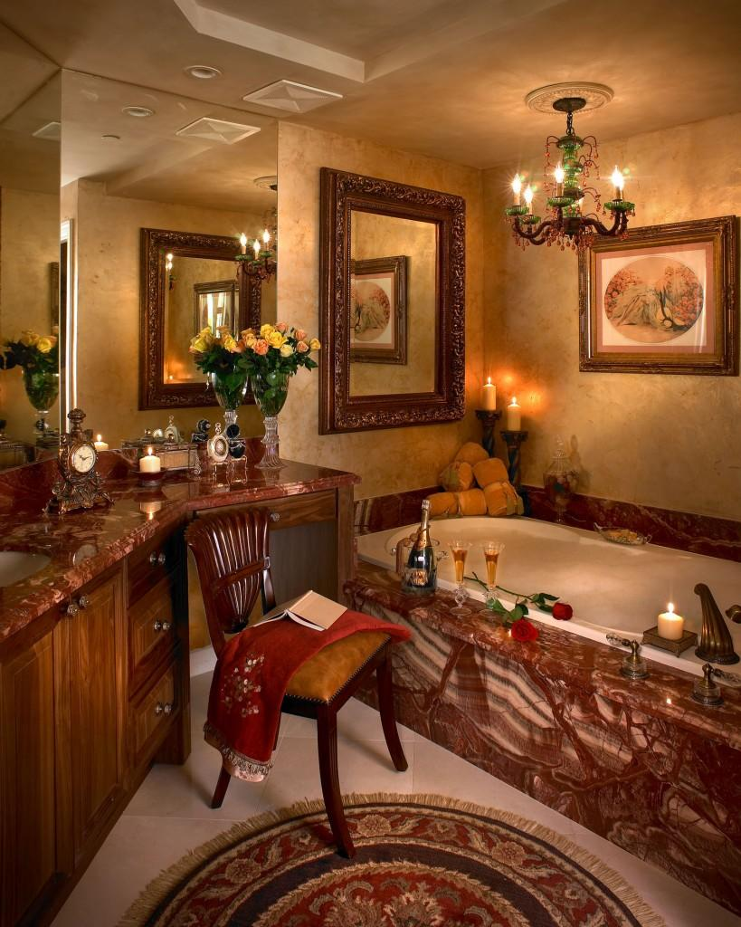 Luxury bathroom interior design In Rich Jewel Tones by Perla Lichi