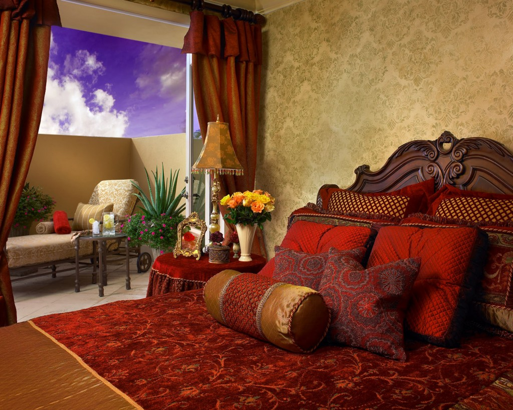 Luxury bedroom interior design In Rich Jewel Tones by Perla Lichi