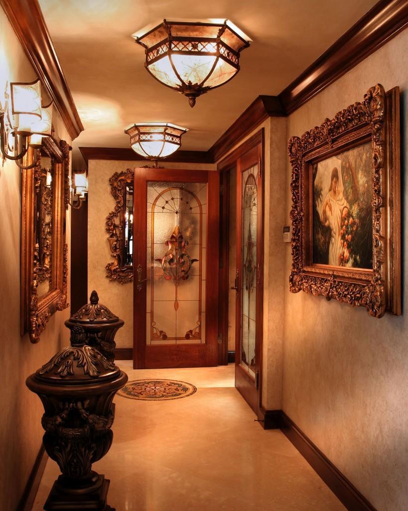 Luxury hallway interior design In Rich Jewel Tones by Perla Lichi