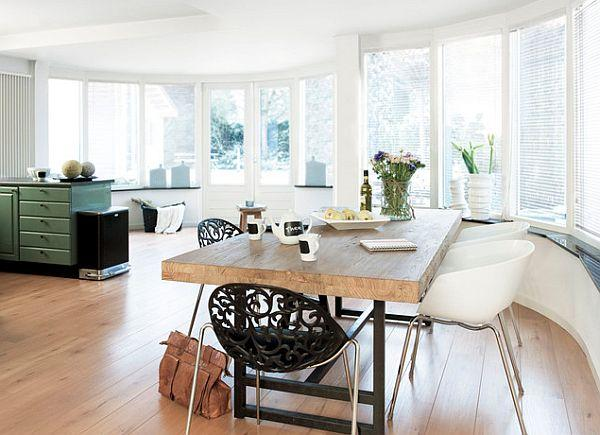 Top 18 Ideas for your Massice kitchen table made of wood.