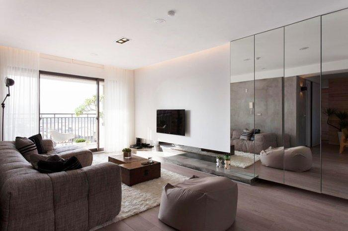 Japanese minimalist apartment interior design by fertility for Asian minimalist interior design