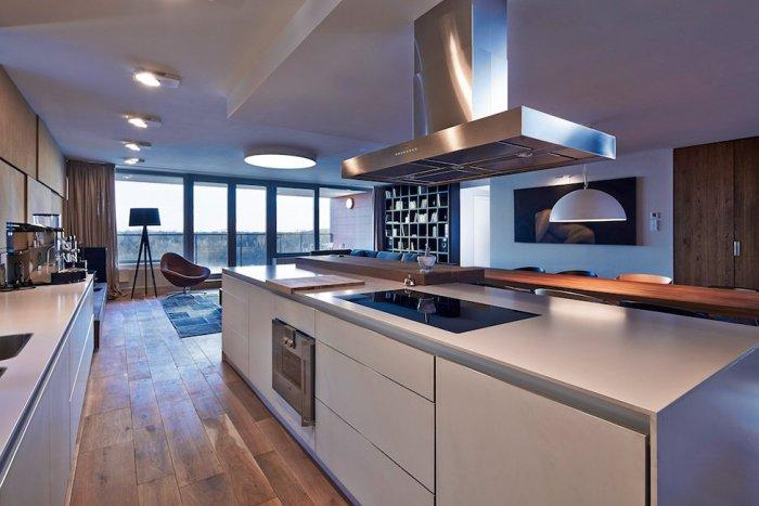 Minimalist kitchen design in white - Cozy House Interior Design in Bratislava