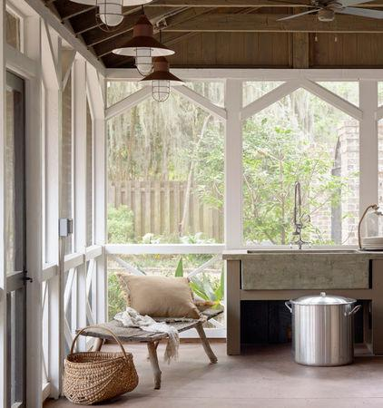 Open kitchen design with large windows - Low-Budget Ideas and Ways To Bring the Summer into your Kitchen