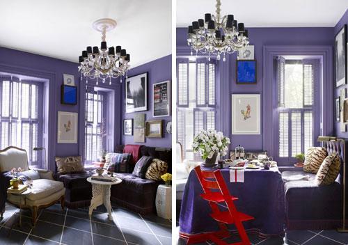 Purple room interior design - Small Room Ideas - Interior Design and Decoration