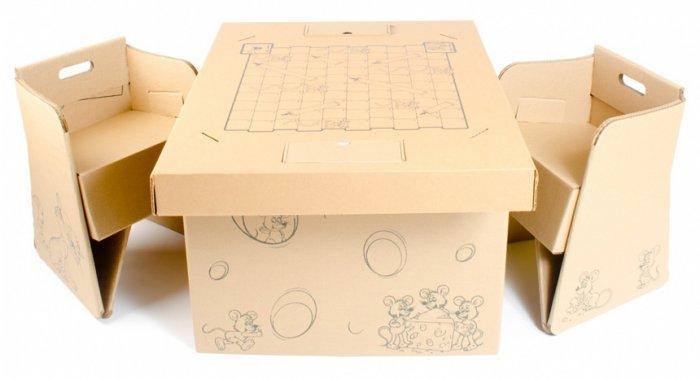 100% Recyclable Cardboard Furniture Design Ideas