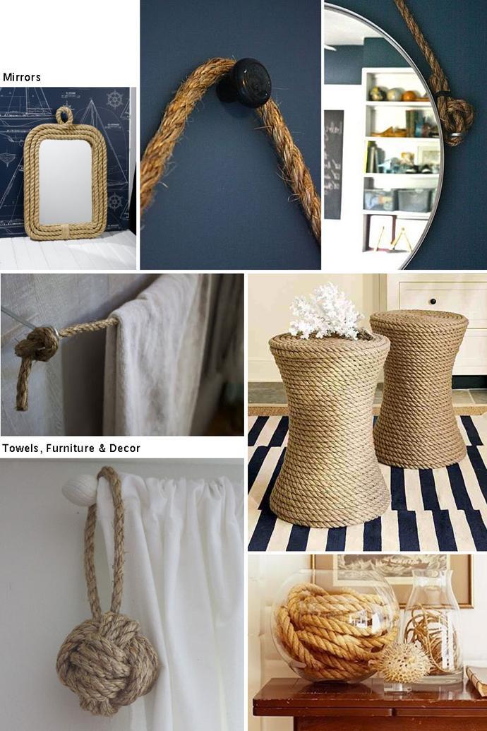 Rustic Interior Decor Ideas with Ropes