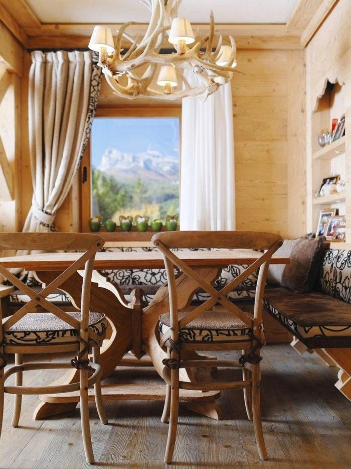 Wooden Interior Design Of An Apartment In A Rustic Style Founterior
