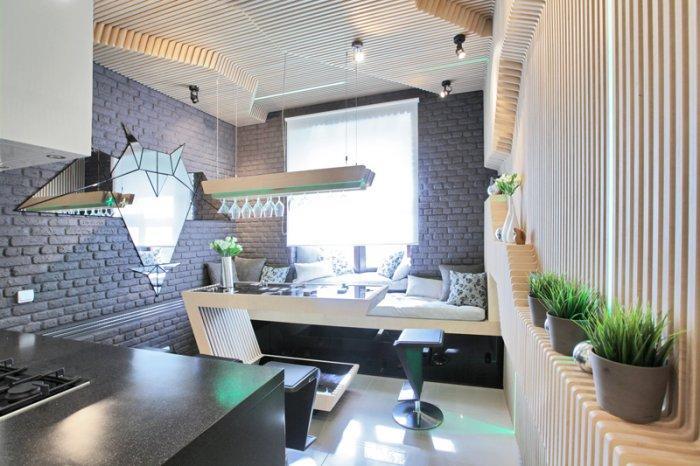 Modern small kitchen futuristic interior design by for Wohneinrichtung modern