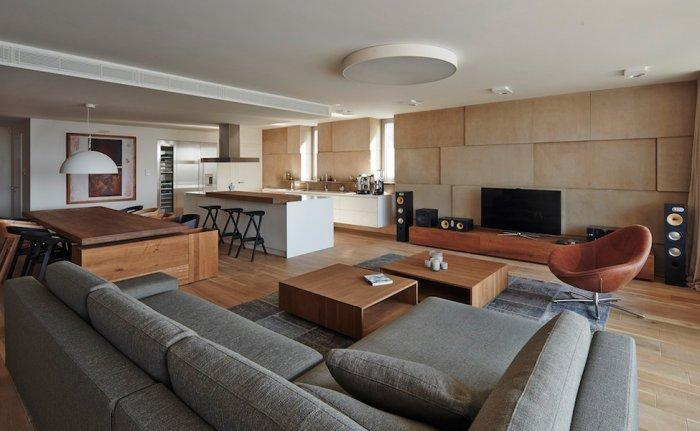 Stylish and elegant living room - Cozy House Interior Design with a Minimalist Touch in Bratislava