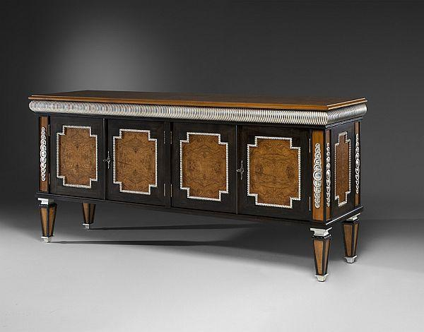 Stylish and classic looking massive drawer chest with a lot of ornaments on it - Modern home furniture collection - Alexandra