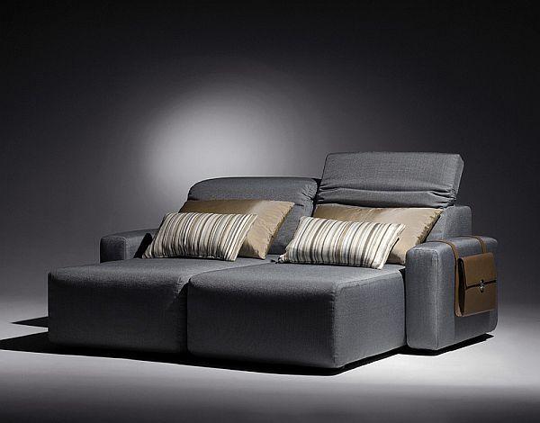 Stylish modern grey sofa - Modern home furniture collection - Alexandra