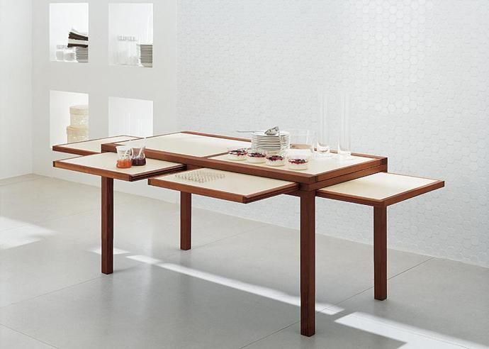Stylish versatile wooden dining table - Versatile and Flexible Furniture