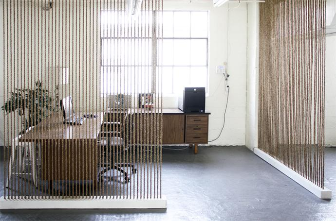 Unique and creative office walls - Rustic Interior Decoration Ideas with Ropes