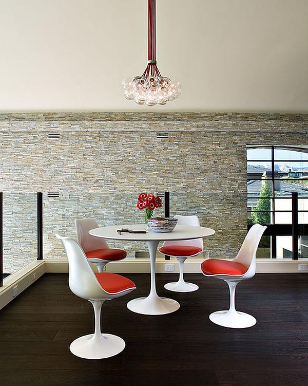 Top 18 Ideas for your White rounded kitchen table and chairs in white and red color.