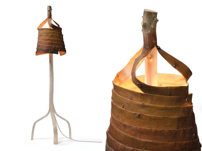 Wooden stripped decorative lamp - Eco Design by Floris Wubben Studio