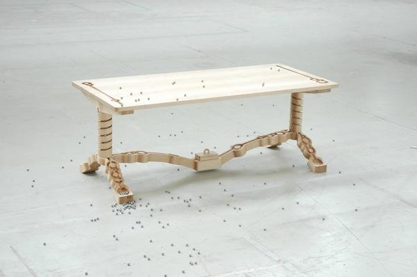 Unique and Exciting Creative Design of a Wooden Table by Nathan Wierink and Tineke Beunders