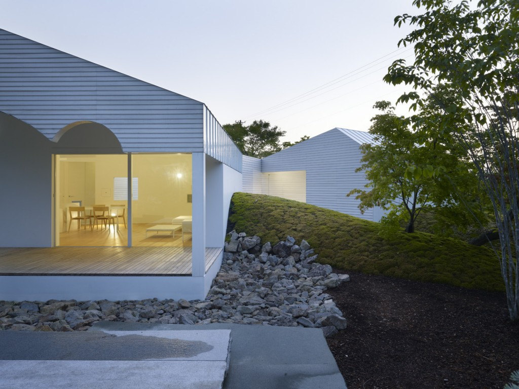 Japanese house with contemporary architecture in Niigata, Japan