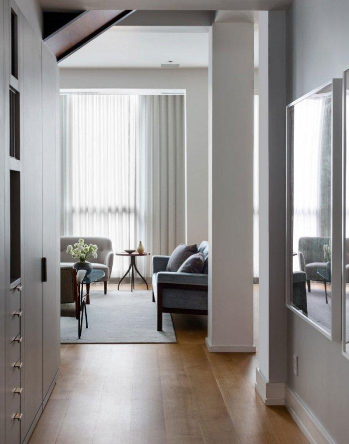Apartment living room in Manhattan, New York