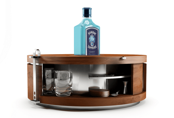 Creative Wooden Table - Bombay Sapphire gin table