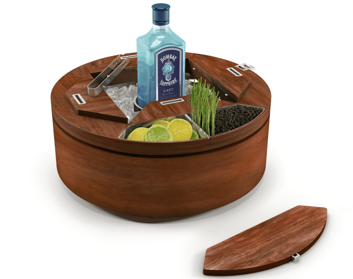The Bombay Sapphire Gin Wheel - Creative Wooden Table