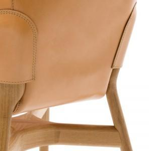 Brown leather chair details - Chair Design by DING3000