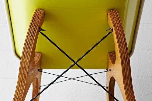 Chair with wooden legs by Karl Sanford