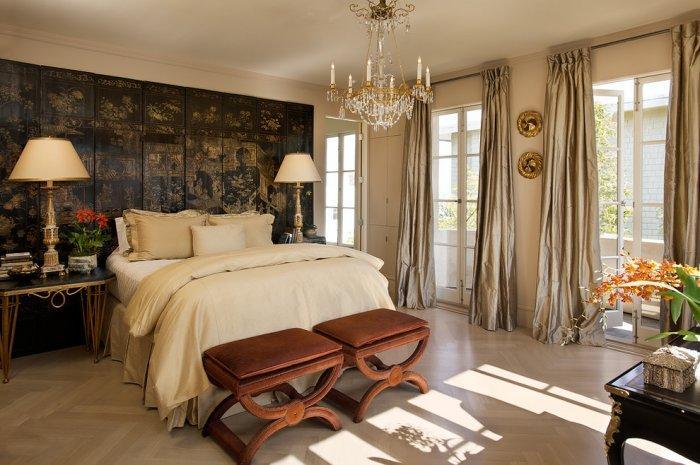 Classical luxury bedroom interior design in Ashbury Heights, San Francisco