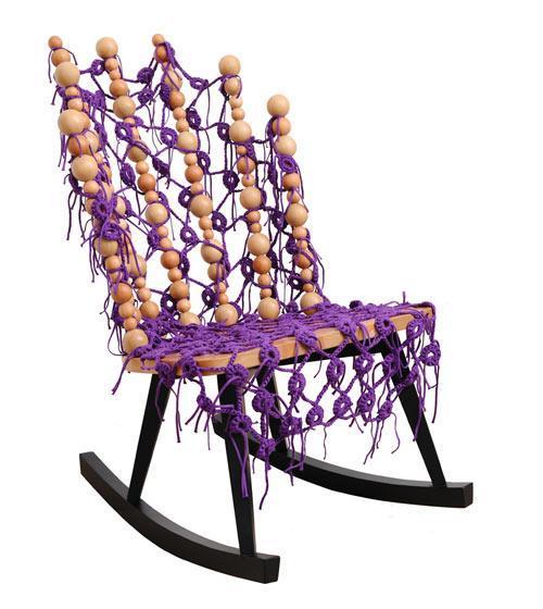 Colorful rocking chair design - Cvetnoetno Furniture Collection