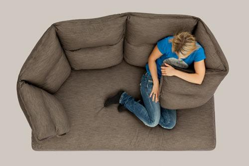 Comfortable brown sofa - Exciting and Creative Sitting Furniture Design Examples