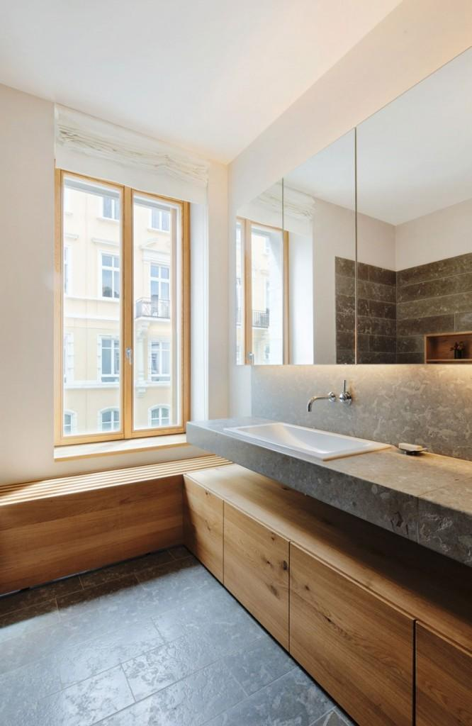 Contemporary bathroom design – the sink in a Three Story Building