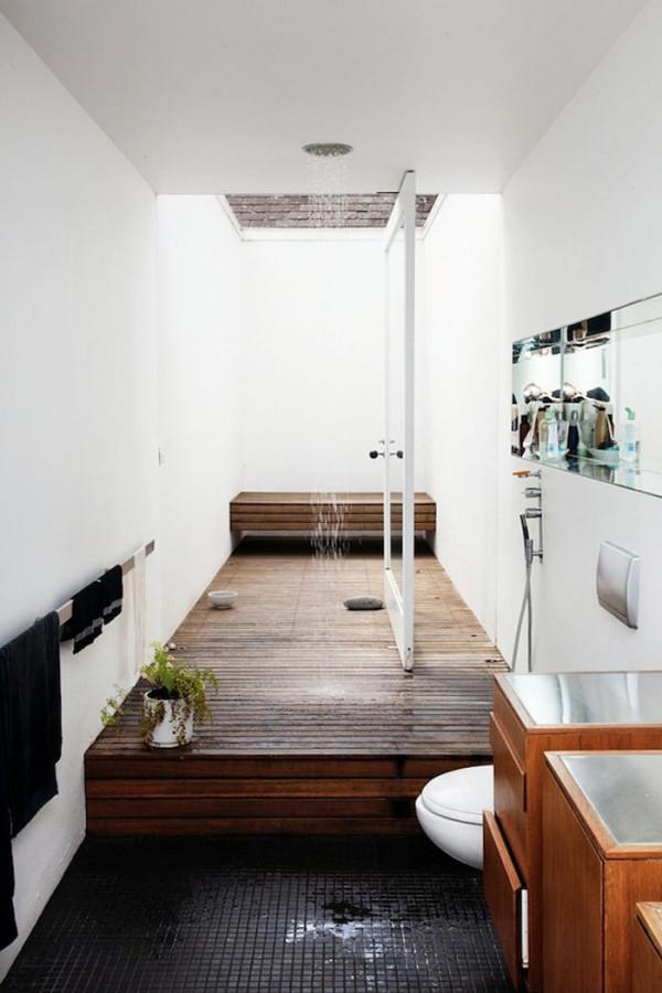 Contemporary bathroom with pivot door - 12 Leading Ideas and Examples