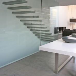 Contemporary glass staircase by Ramon Esteve Studio