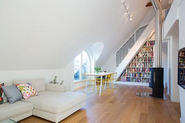 Contemporary Loft open space architecture design solutions