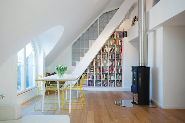 Contemporary Loft Interior Design in white