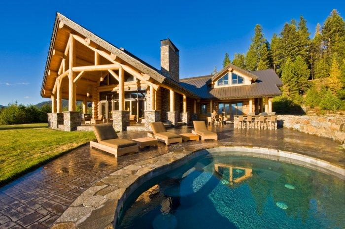 Contemporary mountain lodge nested in the Canada