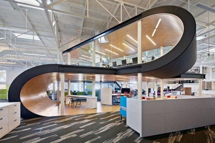 The contemporary office interior design of One Workplace by Design Blitz