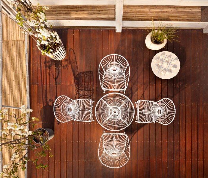 Contemporary patio white furniture set - Garden Arrangement Ideas