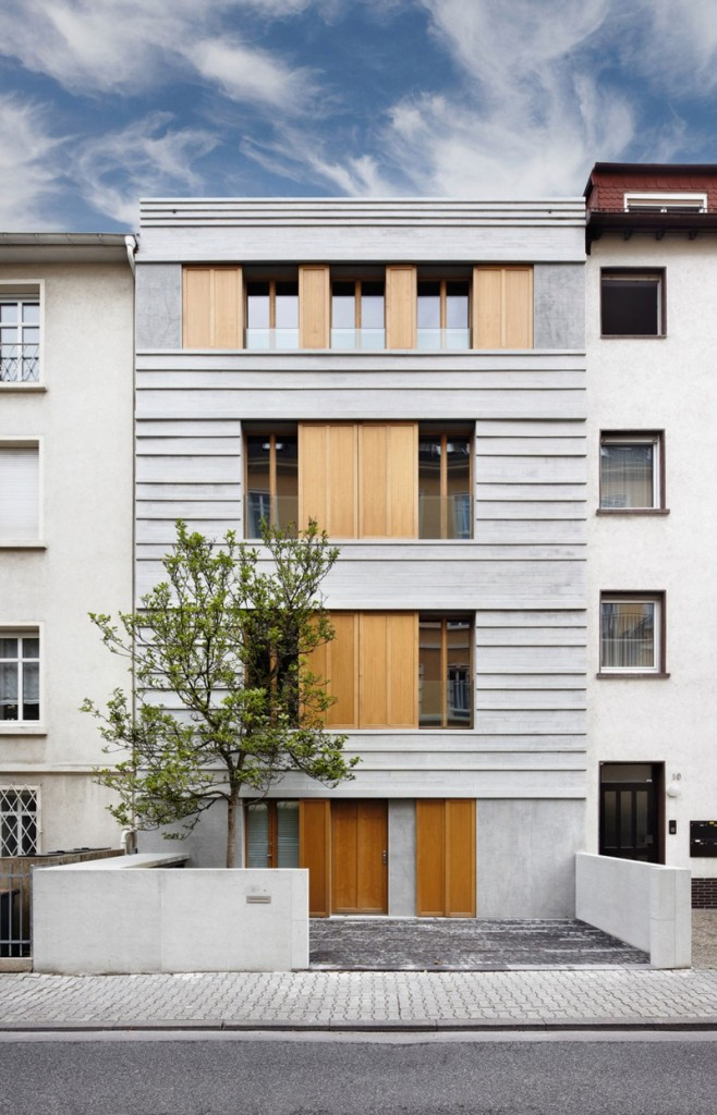 Contemporary three storey building in Germany