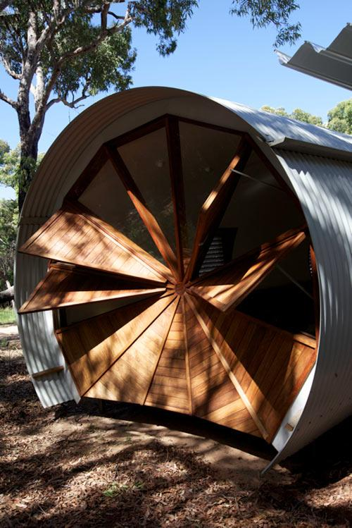 The creative architecture of a small Camping Retreat in Australia