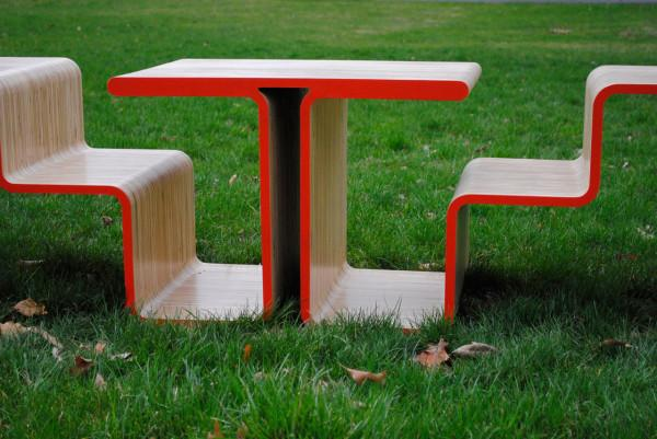 Creative public park bench design - Twofold Bench Design by After Architecture - A Home/Street Seat