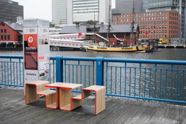 Creative public sitting bench design - Twofold Bench Design by After Architecture - A Home/Street Seat