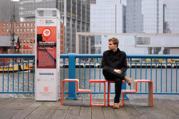 Creative sitting bench in Boston streets - Twofold Bench Design by After Architecture - A Home/Street Seat