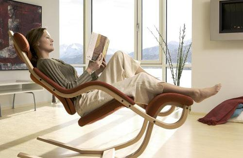 Creative soft lounge chair with wooden frame - Exciting and Creative Sitting Furniture Design Examples