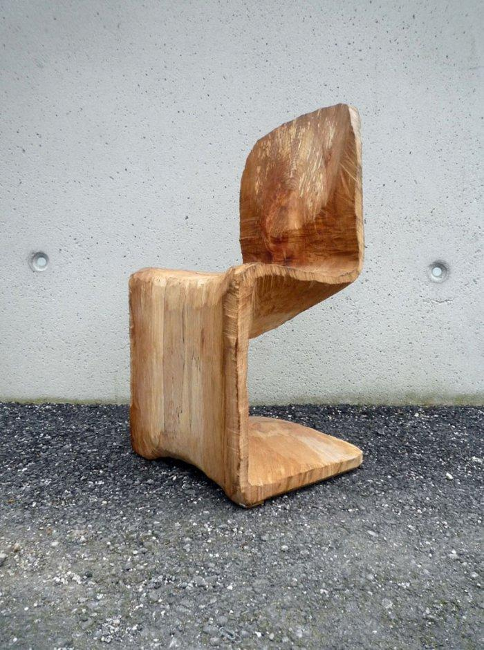 Creative wooden chair design by Matthias Brandmaier description –