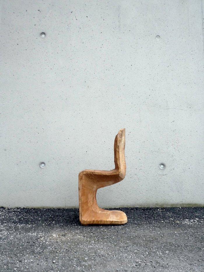 Creative wooden chair design - Amazing Panton Chair by Matthias Brandmaier