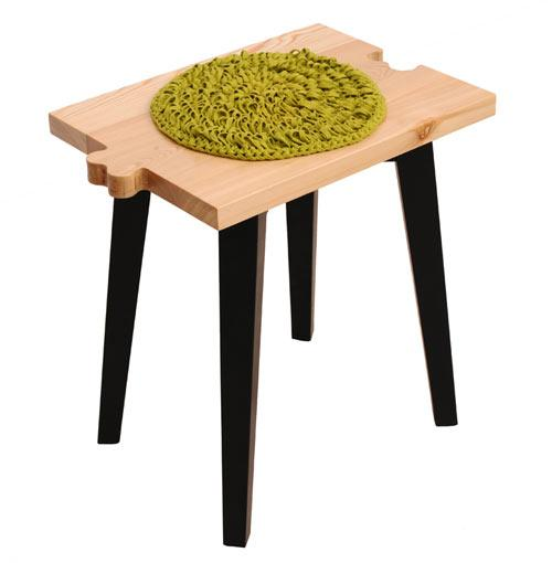 Creative wooden stool design - Cvetnoetno Furniture Collection