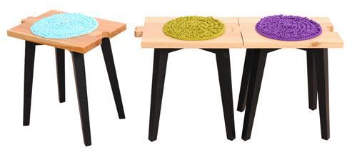 Creative wooden stools design - Cvetnoetno Furniture Collection