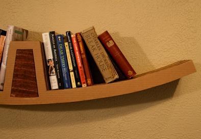 Creative wooden wall bookshelf by Leo Kempf
