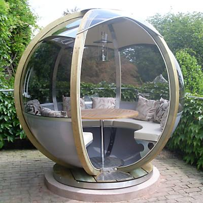 Farmer's Cottage Rotating Sphere Seater - Contemporary Garden Furniture and Decoration Ideas
