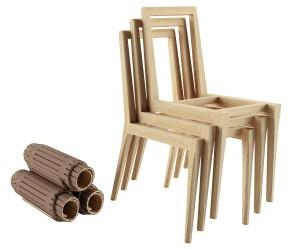 Creative Foldable wooden chair back by Noé Duchaufour-Lawrance